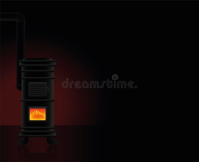 Gorącego pokój obsady żelaza Piecowy Wygodny ciepło ilustracja wektor