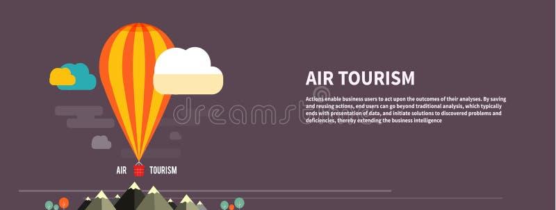 Gorącego powietrza balonowy latanie nad górą ilustracji