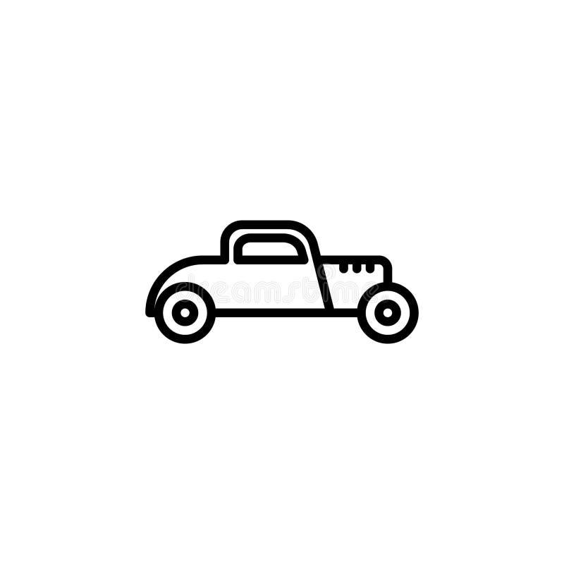 Gorącego prącia samochodu ikona kreskowego stylu ikony wektoru ilustracja ilustracja wektor