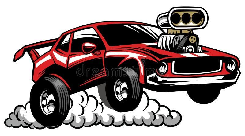 Gorącego prącia zwyczaju sklepu auto odznaka ilustracji
