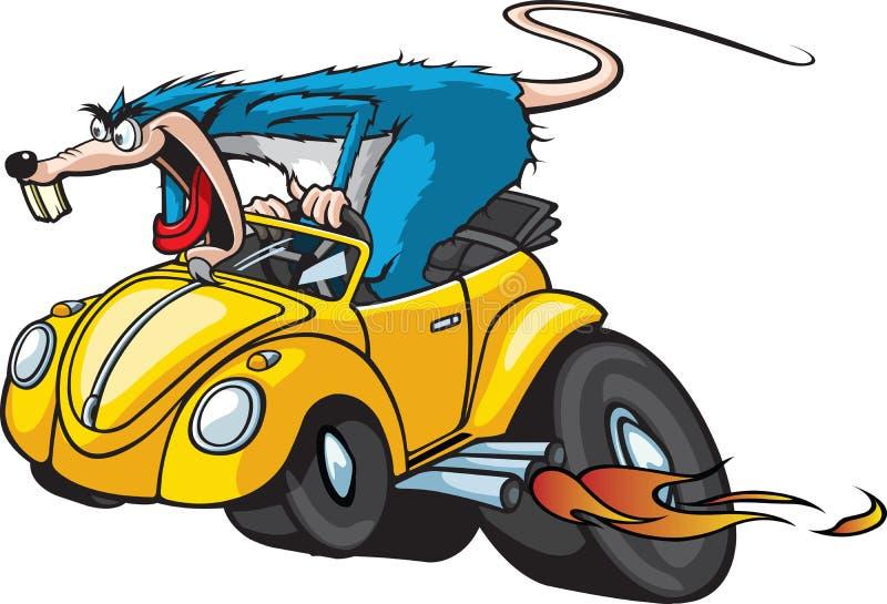 Gorącego Rod szczur ilustracja wektor