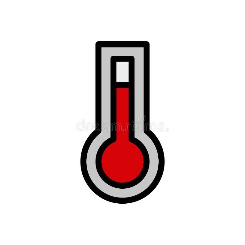 Gorącego temperaturowego lata logo wektorowa ikona lub ilustracja Editable kolor i uderzenie Doskonali? u?ywa dla wzoru i projekt ilustracji