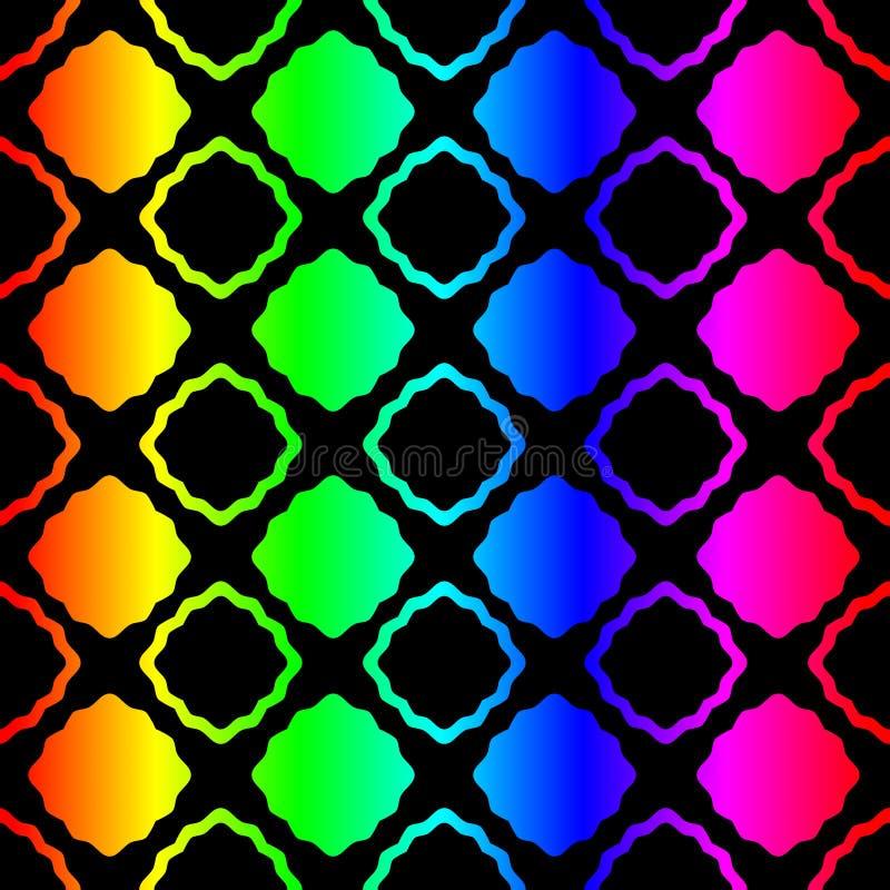 Gorącej tęczy geometryczny Bezszwowy wzór ilustracja wektor