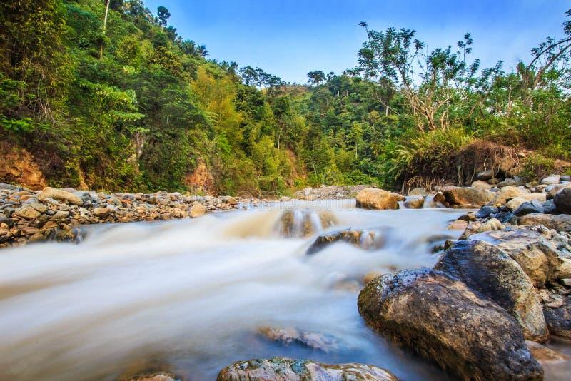 Gorącej wiosny rzeka zdjęcia stock