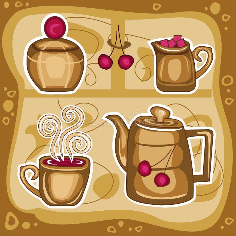 gorący (1) napój ilustracji