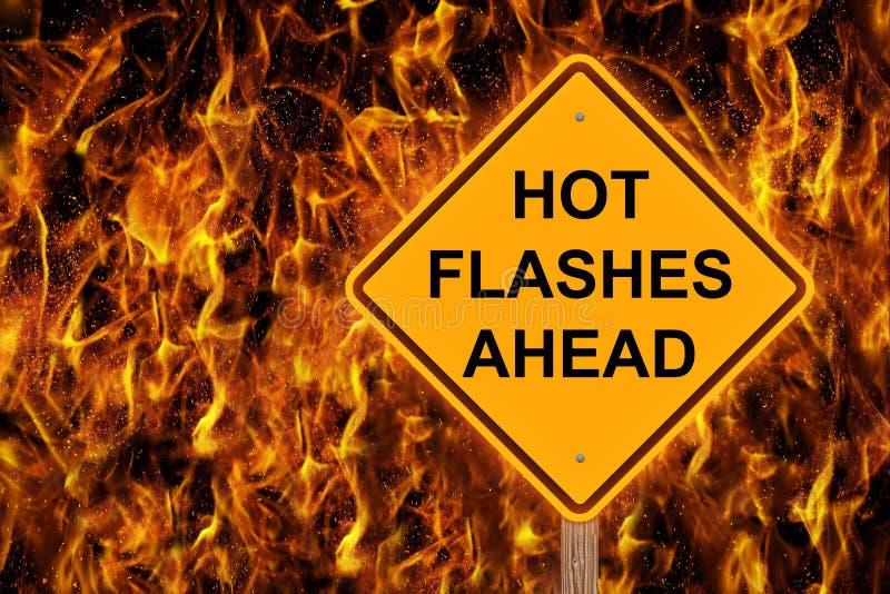 Gorący błyski Naprzód Ostrzega W płomieniach zdjęcia royalty free