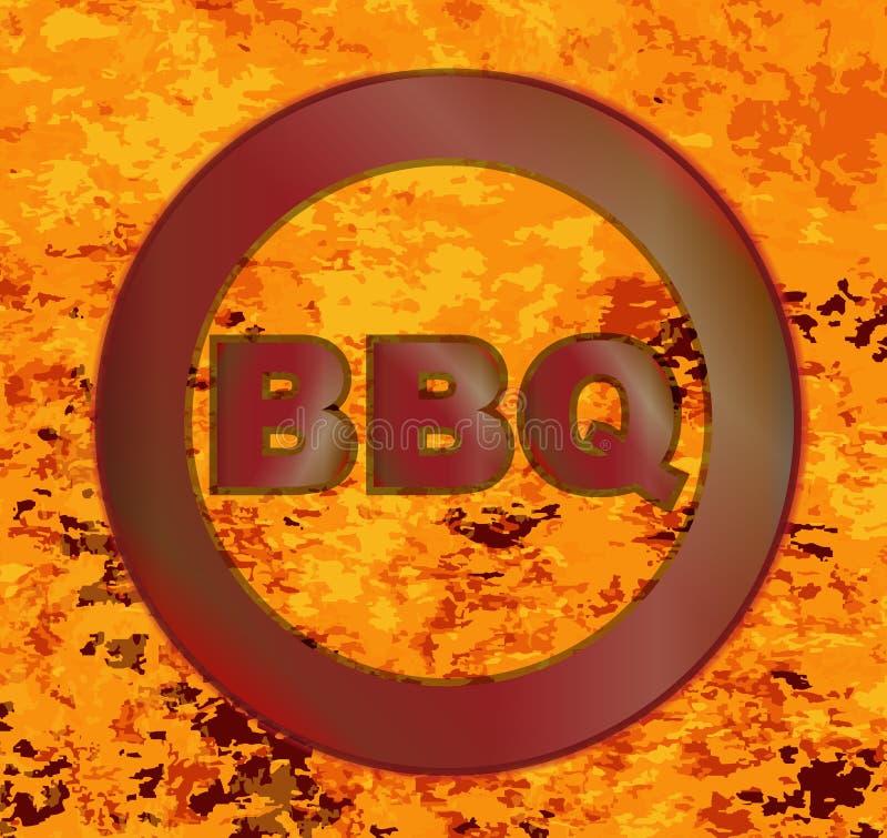 Gorący BBQ Oznakuje żelazo ilustracji