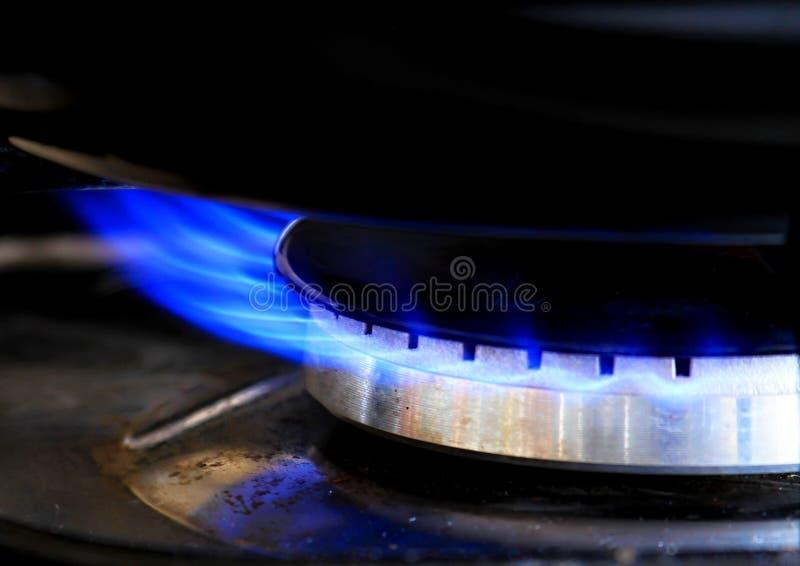 Gorący benzynowy pierścionek w kuchni obraz royalty free