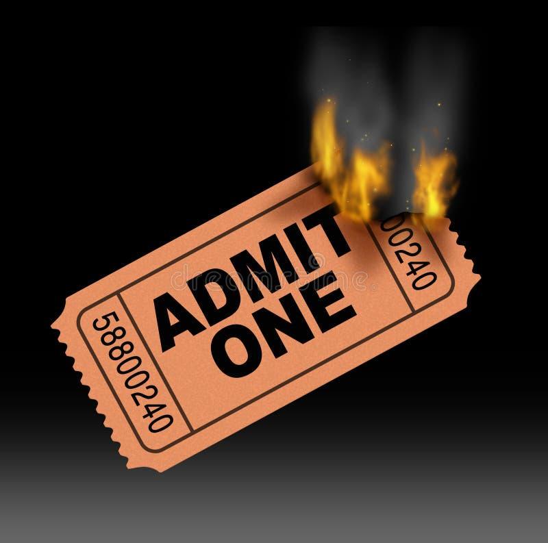 Gorący bilet royalty ilustracja