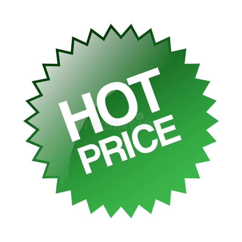 Gorący cena majcheru znaczek ilustracji