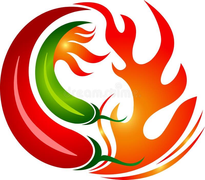 Gorący chłodny logo royalty ilustracja