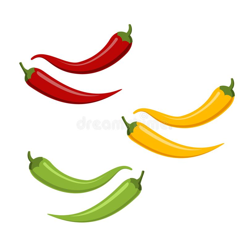 Gorący chili pappers royalty ilustracja