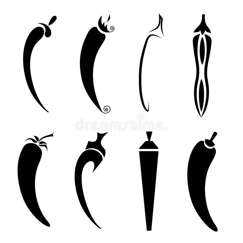 gorący chili pieprz ilustracji
