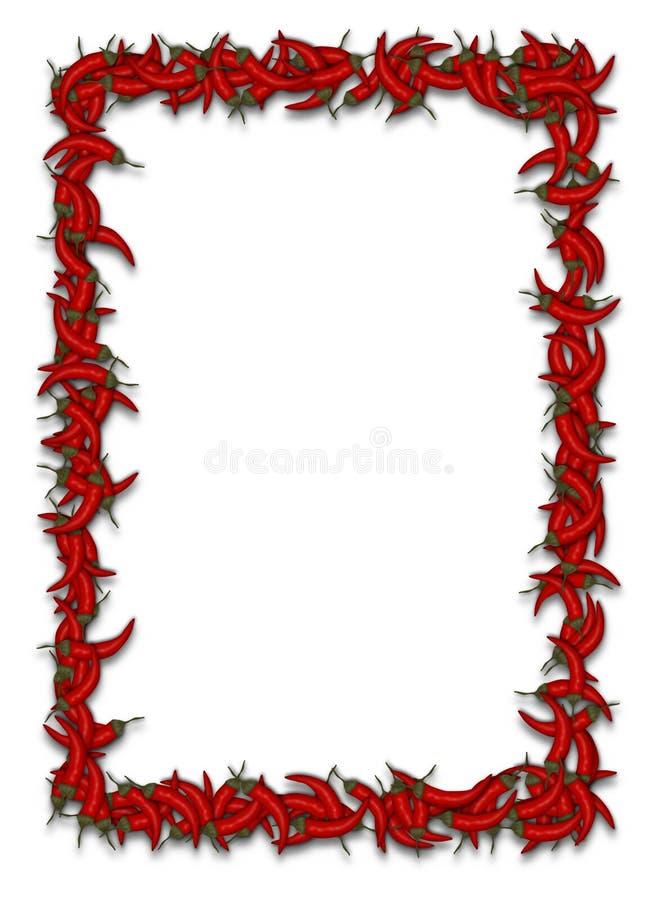 Gorący chili rama ilustracja wektor