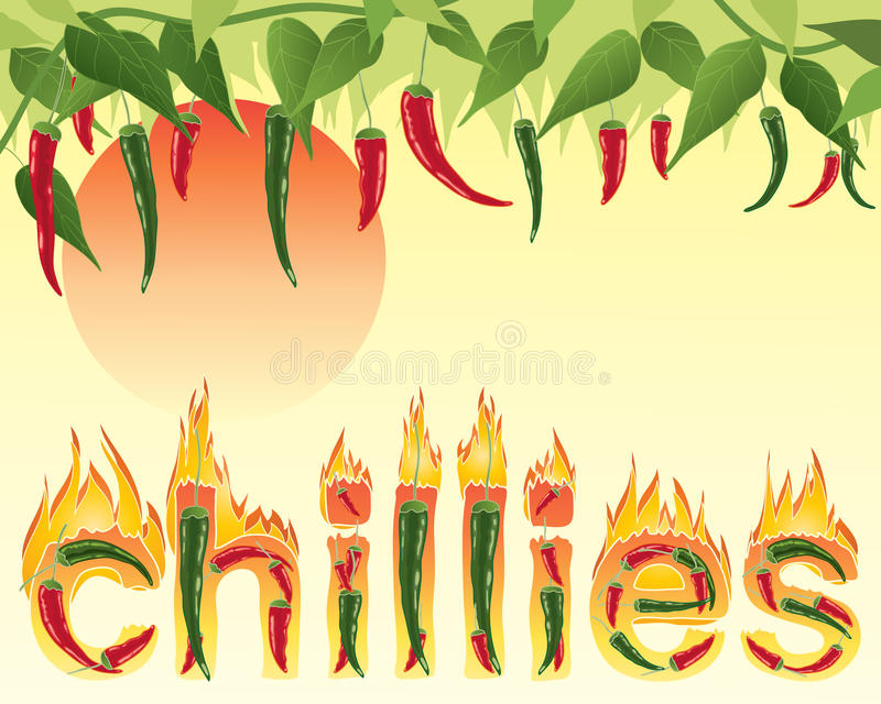Gorący chillies royalty ilustracja