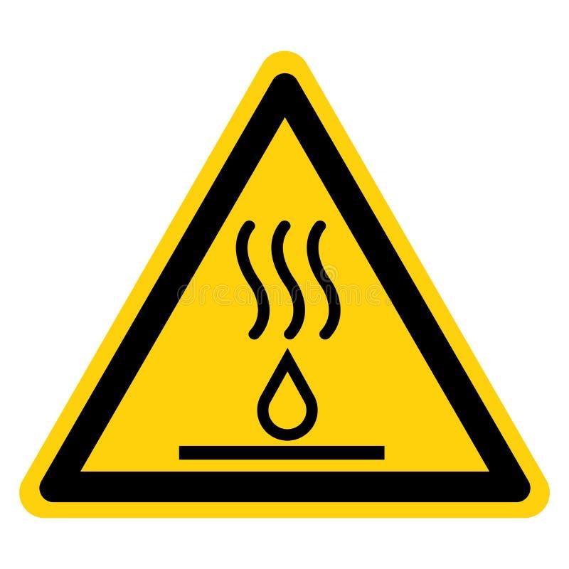 Gorący ciecza symbolu znak, Wektorowa ilustracja, Odizolowywa Na Białej tło etykietce EPS10 ilustracji