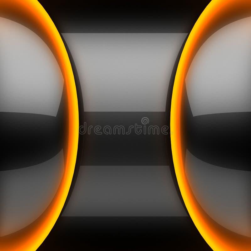 Gorący czarny metalu tło ilustracja wektor
