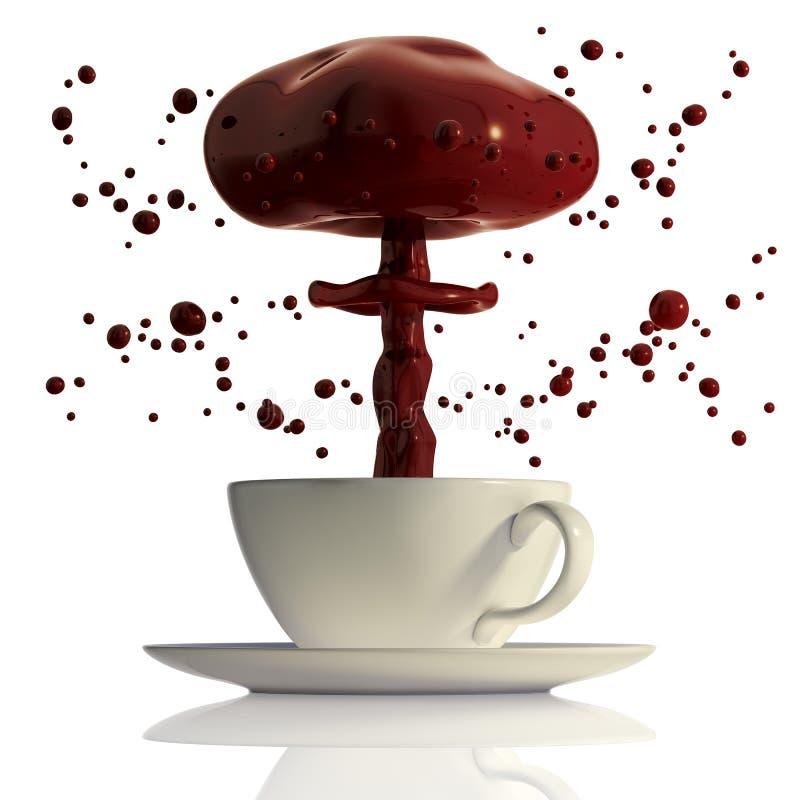 gorący czekoladowy wybuch ilustracja wektor