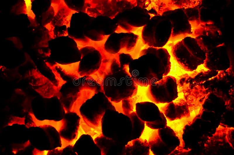 Gorący Embers od ogienia zdjęcia royalty free