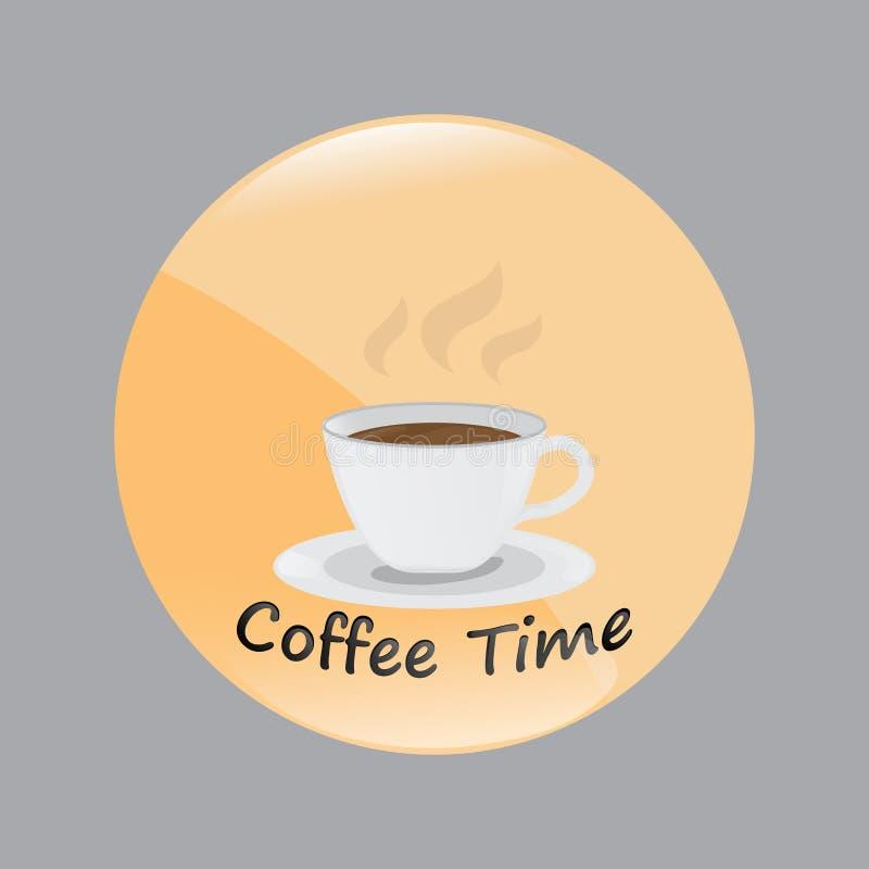Gorący filiżanki mieszkania styl projekt kawy czas wektor ilustracja ilustracja wektor