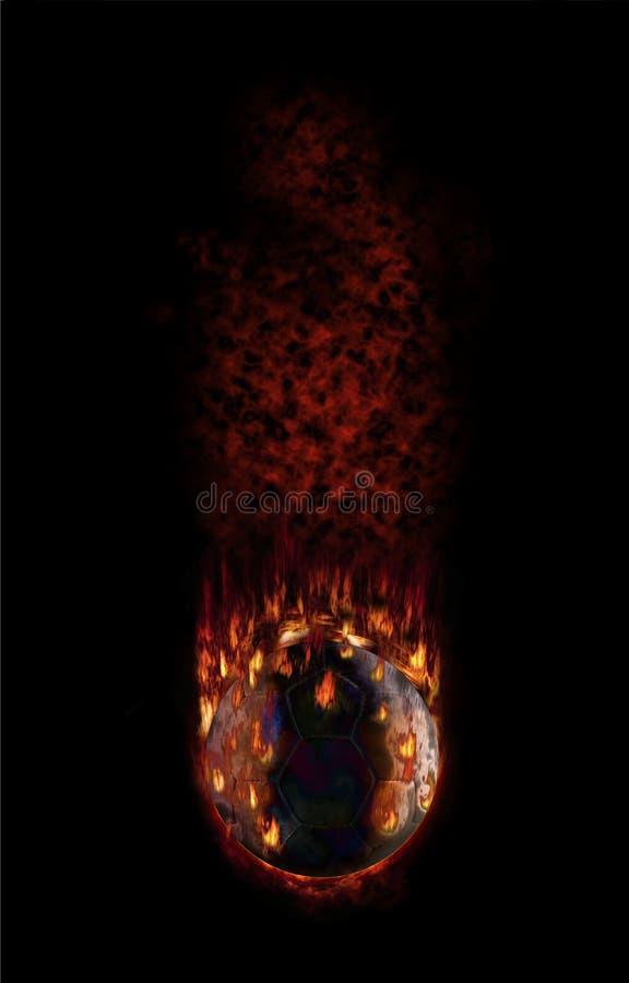 gorący futbolowy płomienia spadać opar ilustracja wektor