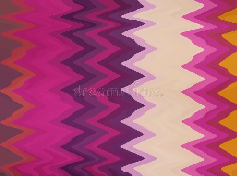 Gorący gamma zygzag tło ilustracja wektor