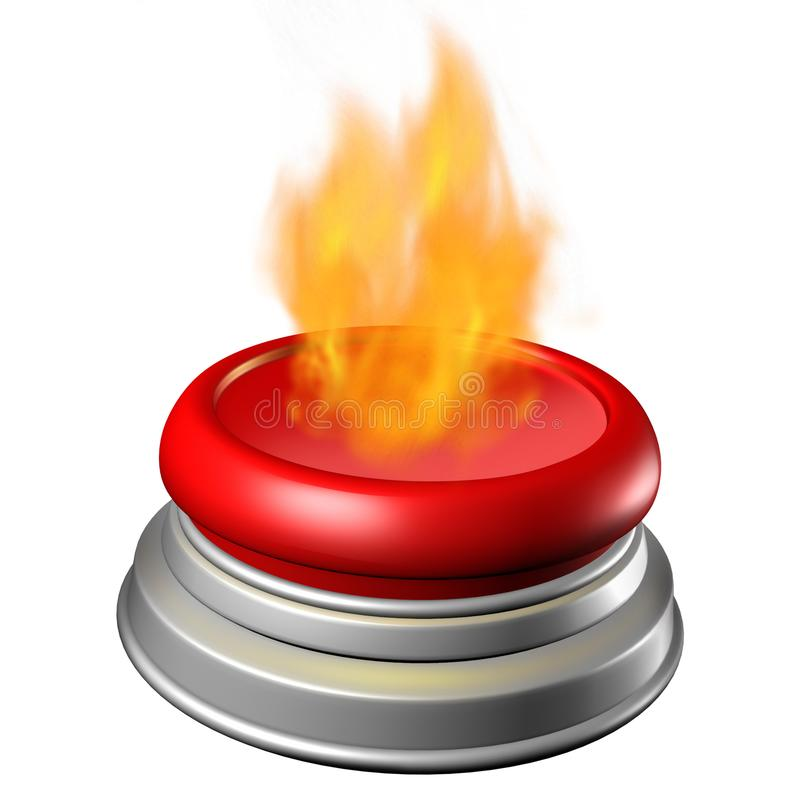 Gorący guzika cyngla symbol ilustracja wektor