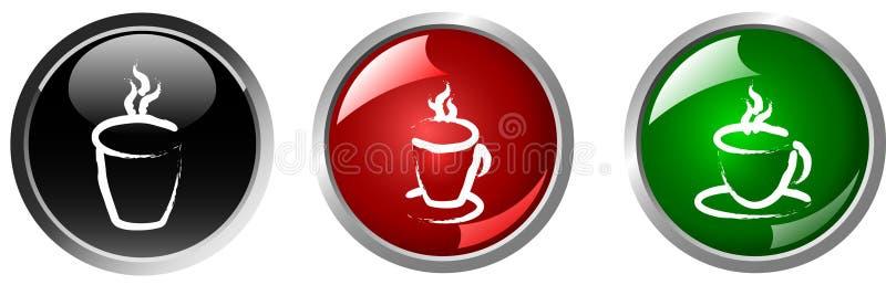 gorący guzika napój ilustracji