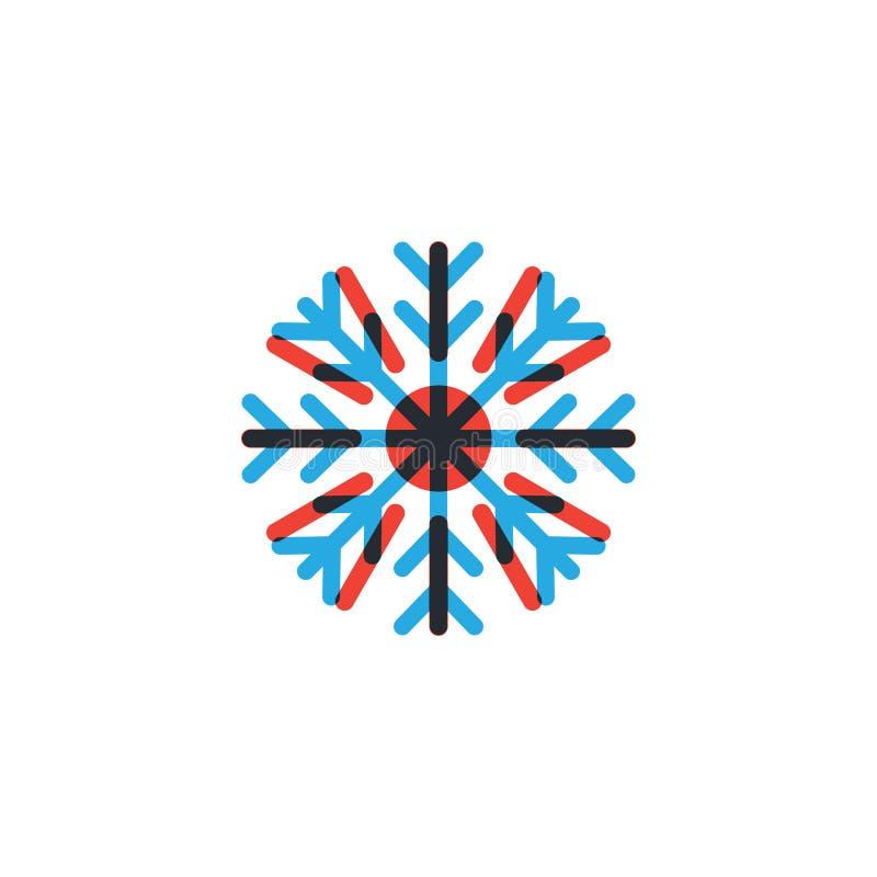Gorący i zimny ikona graficznego projekta szablon royalty ilustracja