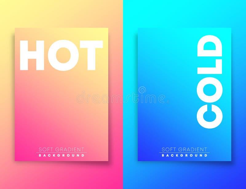 Gorący i zimny miękki gradientowy tekstury tło dla, ilustracji