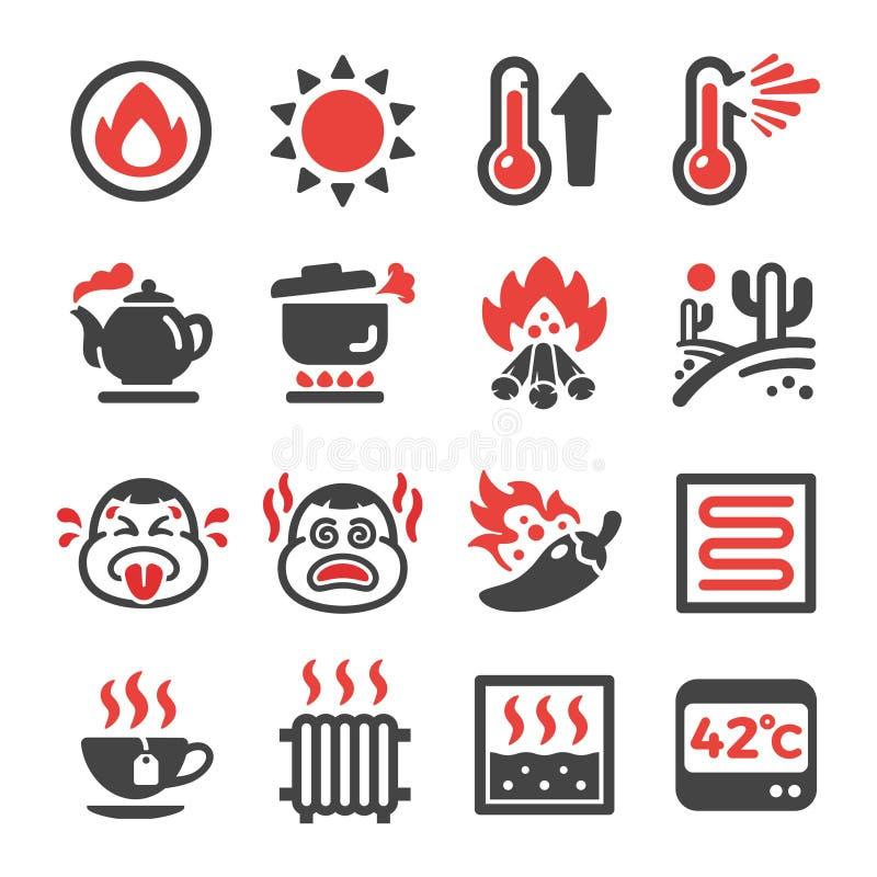 Gorący ikona set royalty ilustracja