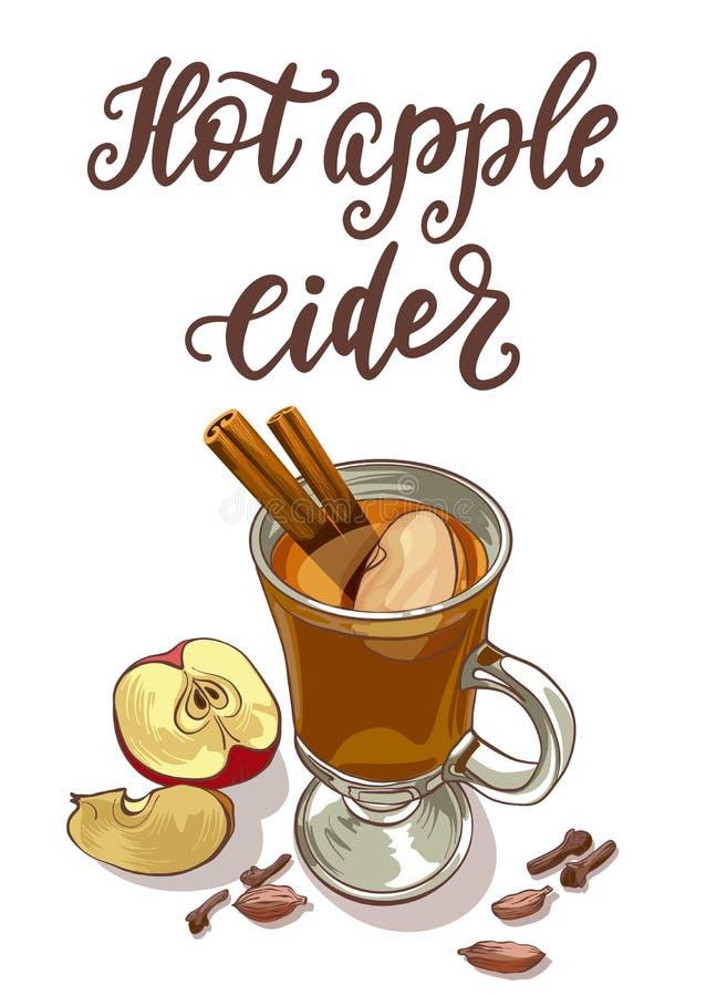 Gorący jabłczany cydr ilustracji