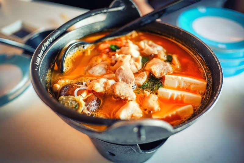 Gorący jedzenie w Singapur obrazy royalty free