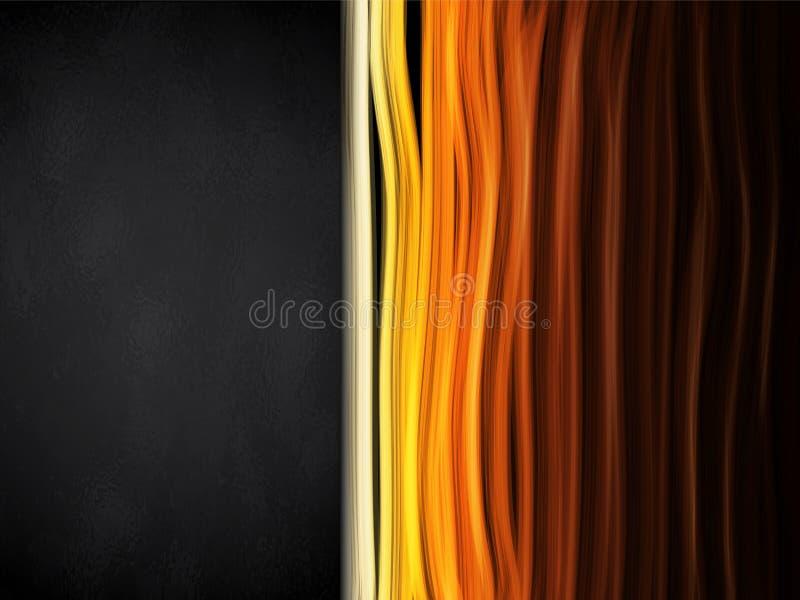 Gorący kolorów lampasów tło z czerni ramą ilustracja wektor