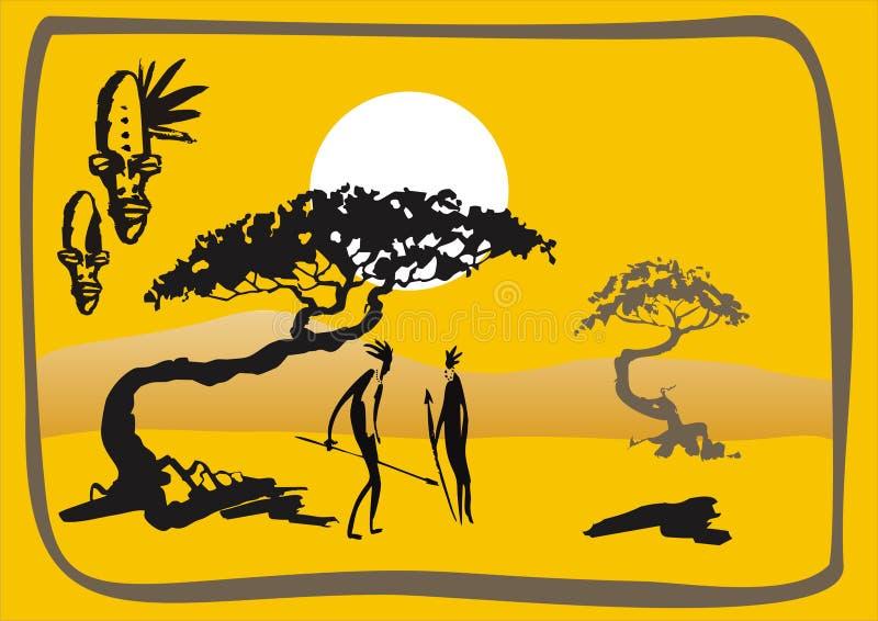 Gorący kraj ilustracji