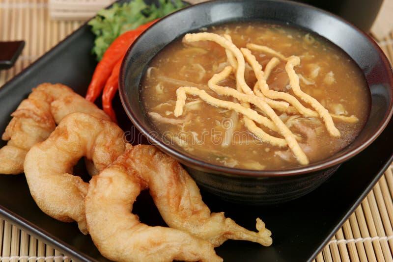 gorący krewetki zupy kwaśne zdjęcia stock