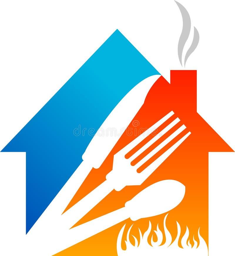 gorący kucbarski domowy logo ilustracji