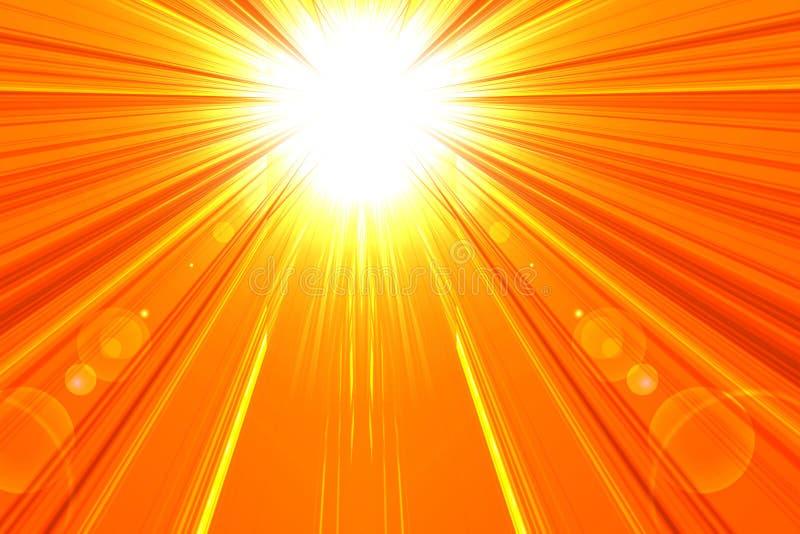 Gorący lata słońce ilustracja wektor