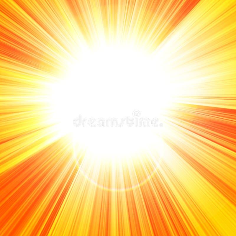 Gorący lata słońce ilustracji