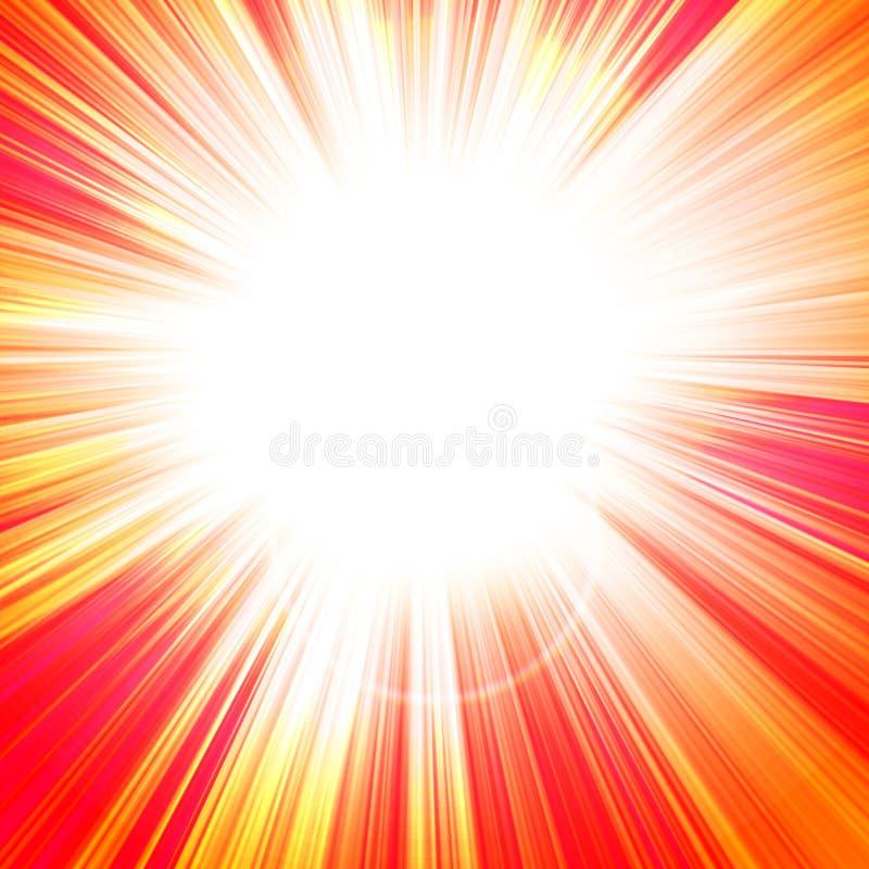 Gorący lata słońce royalty ilustracja