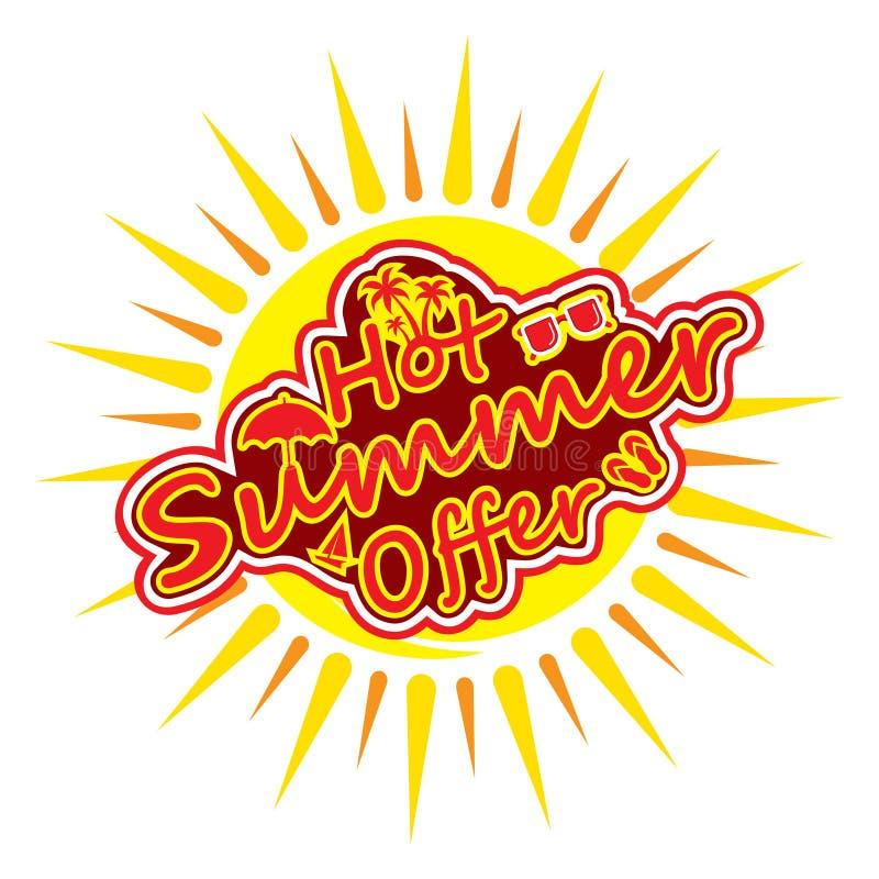 Gorący lato oferty sztandar ilustracji