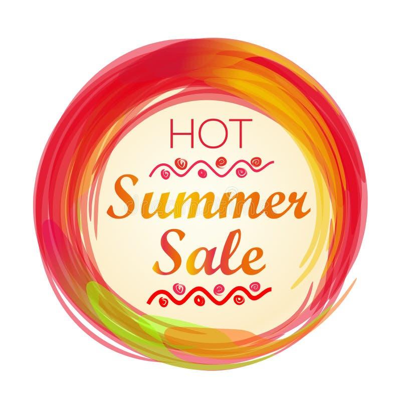 Gorący lato sprzedaży literowanie ilustracja wektor