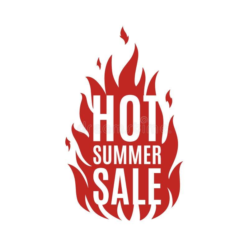 Gorący lato sprzedaży sztandar royalty ilustracja
