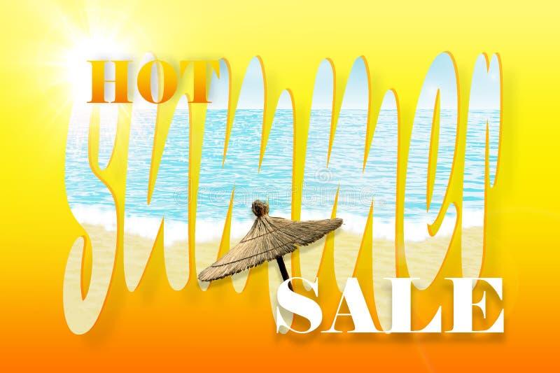 Gorący lato sprzedaży tło ilustracji