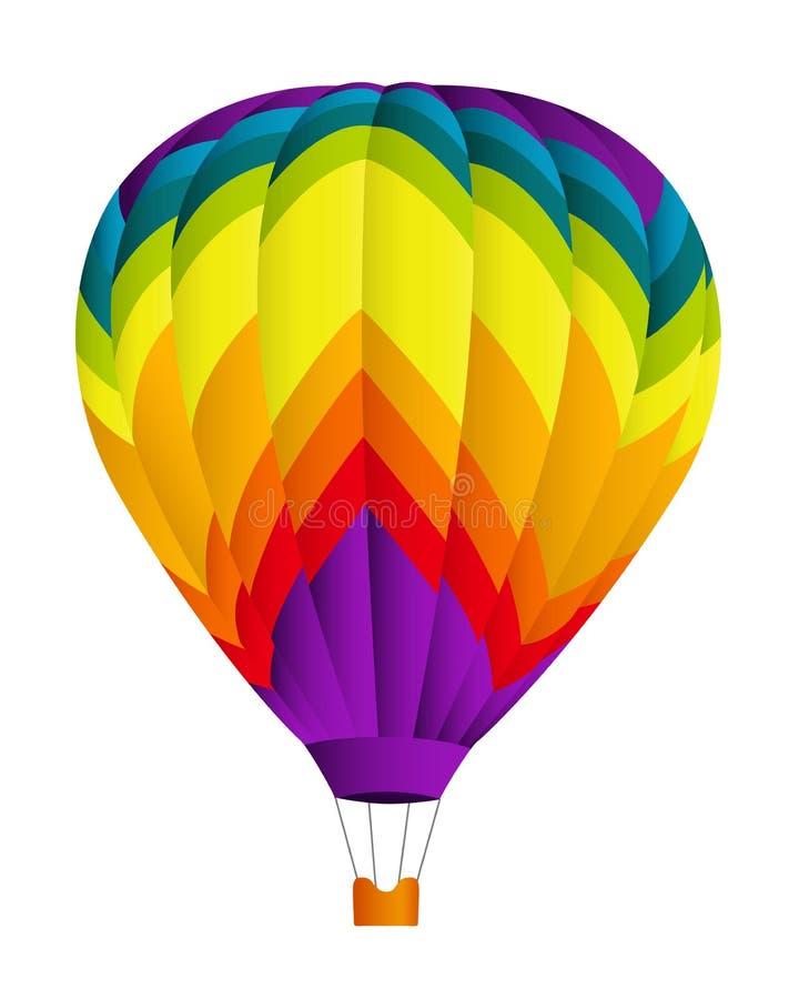 gorący lotniczy balon ilustracja wektor