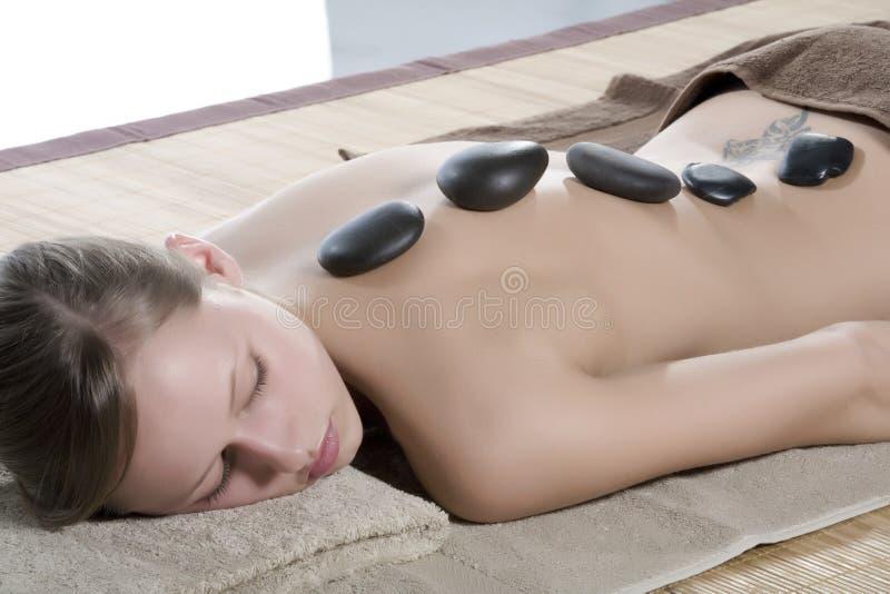 gorący masaż kamień zdjęcia stock