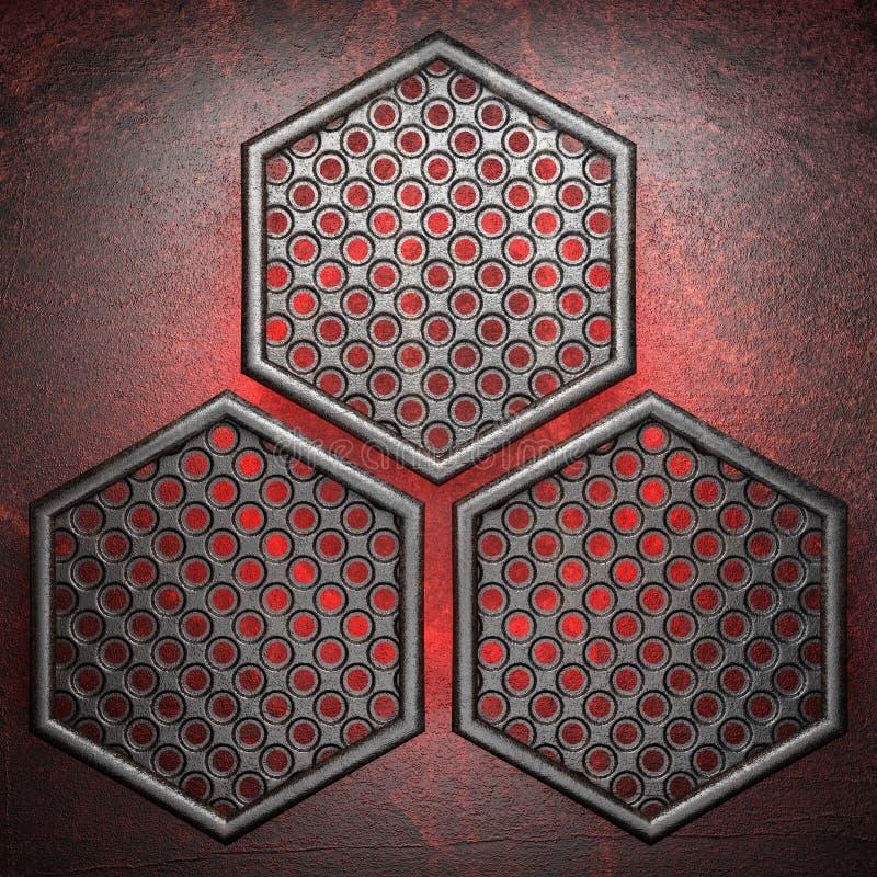 Gorący metalu tło royalty ilustracja