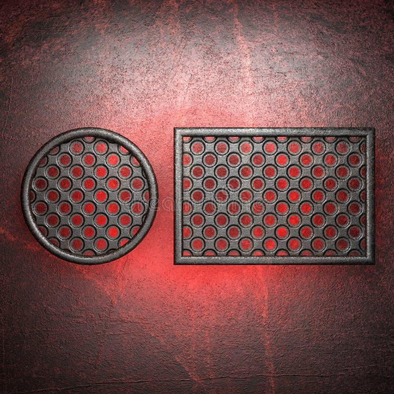 Gorący metalu tło ilustracji