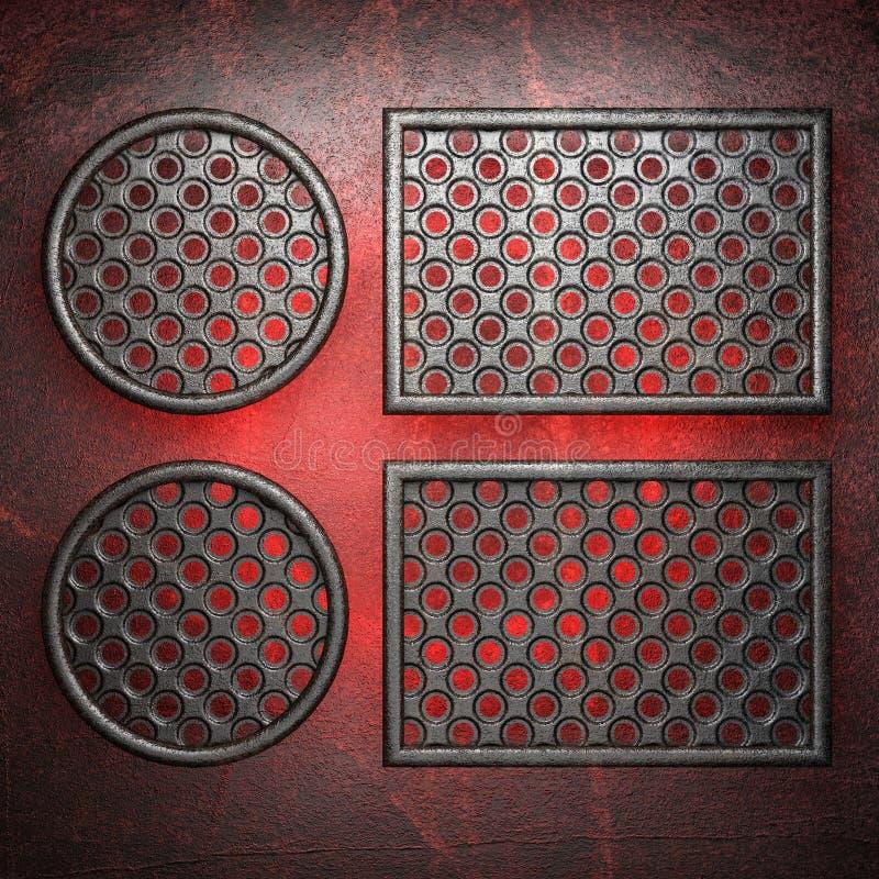 Gorący metalu tło ilustracja wektor