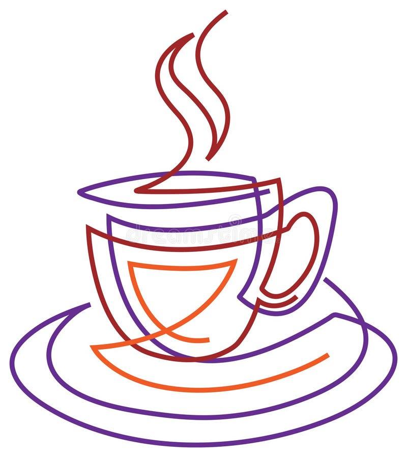gorący napój royalty ilustracja